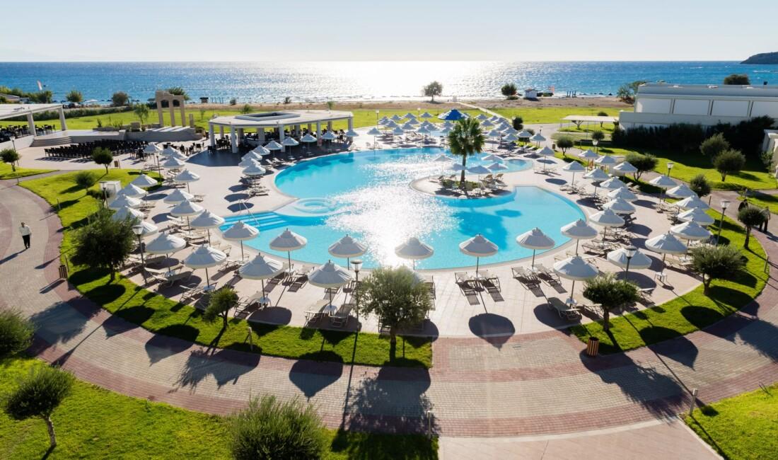 The external pools at Apollo Blue Luxury Resort in Faliraki
