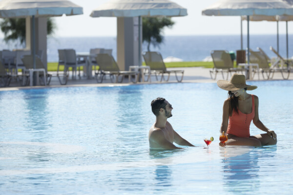 Rhodes luxury hotel with pool